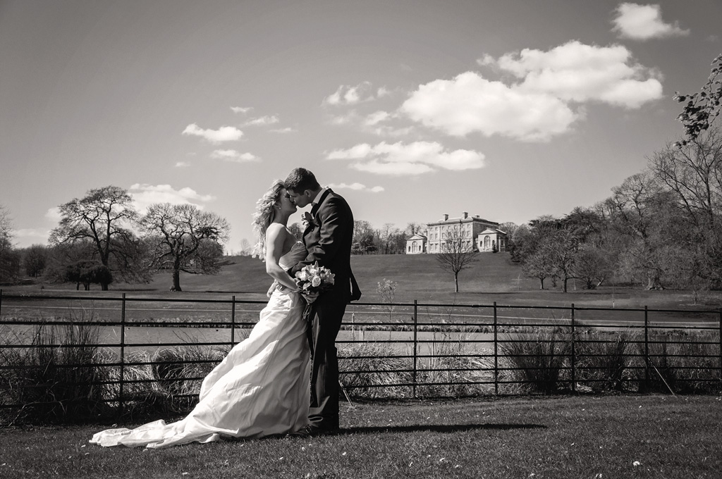 Bride & groom portrait from Cusworth Hall wedding