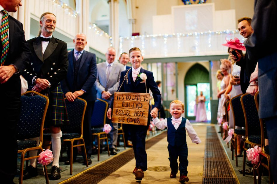Wedding ceremony at Christ Church Doncaster