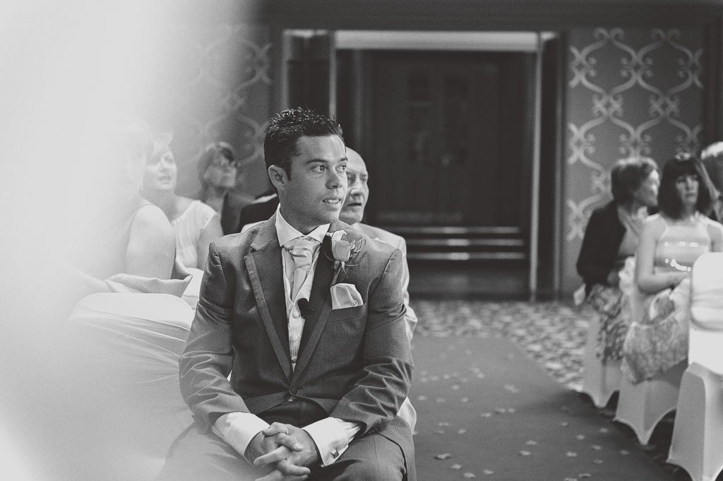 Groom waiting at The Earl of Doncaster Hotel