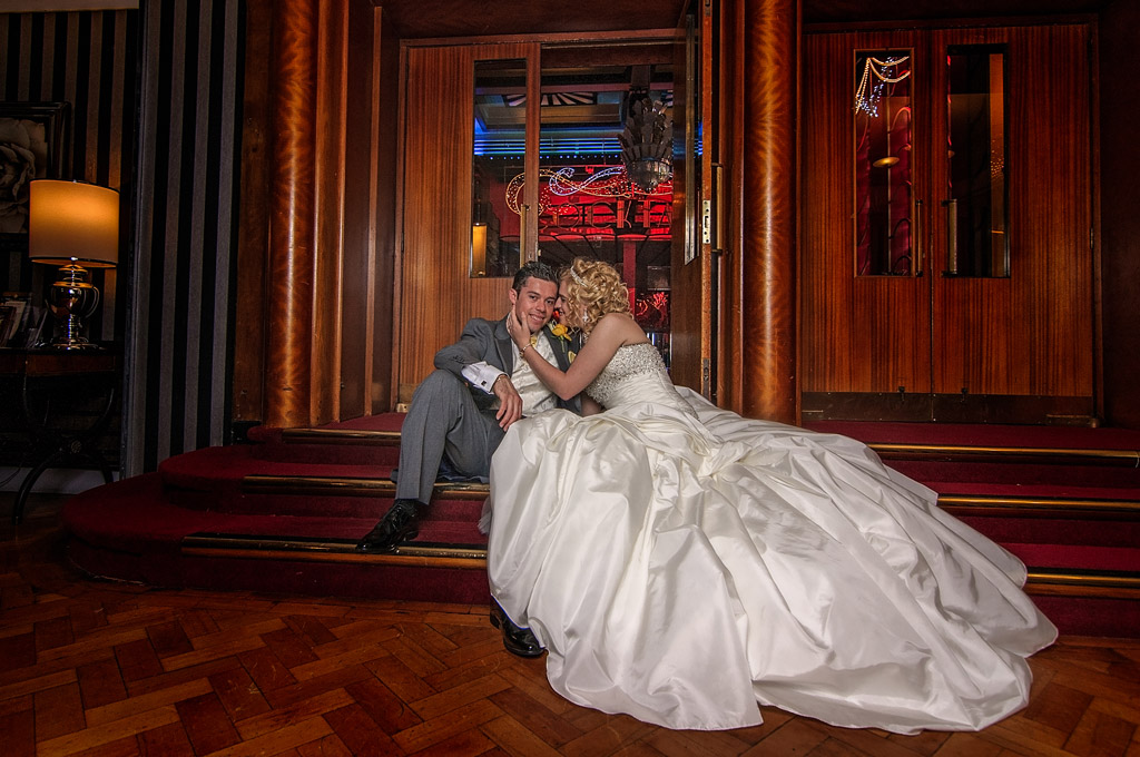 Bride & groom at The Earl of Doncaster Hotel