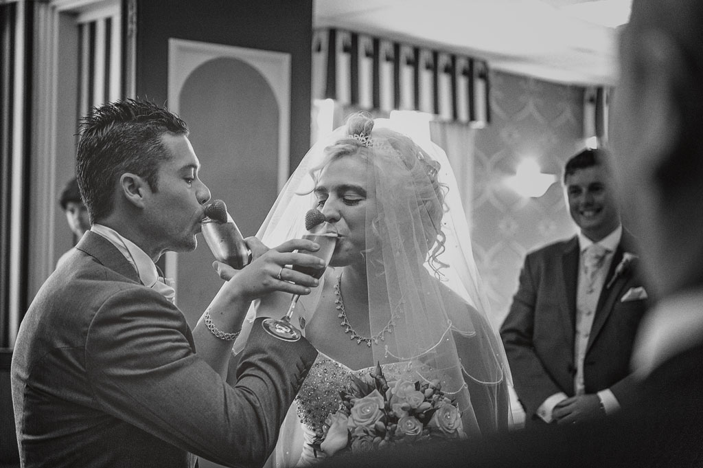 Bride and groom at The Earl of Doncaster Hotel
