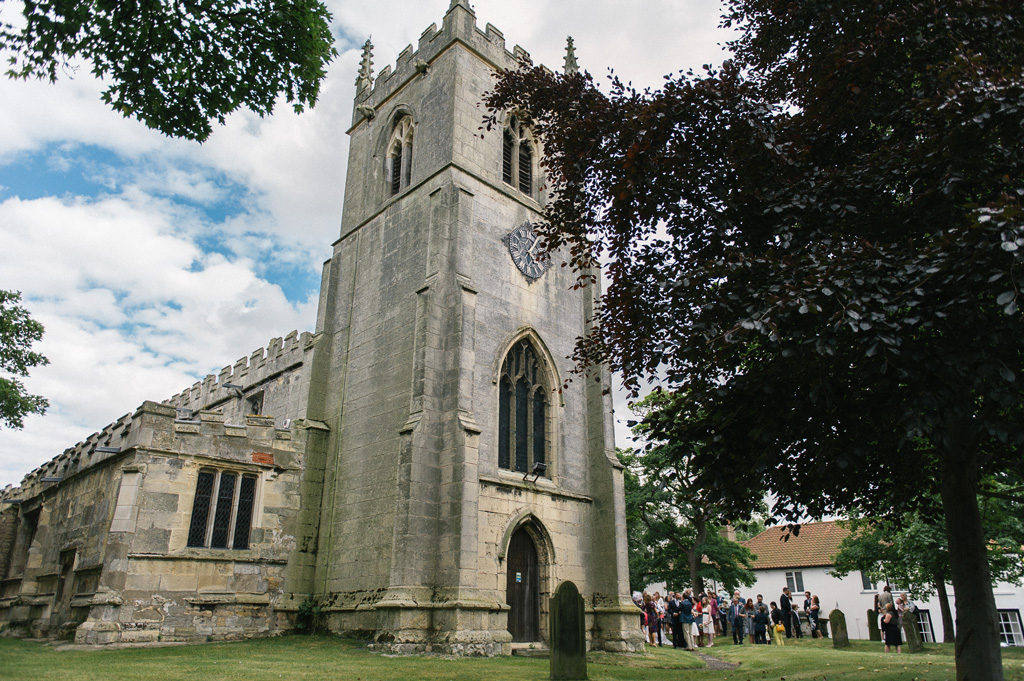 Kristy and James's wedding at St John the Baptist's church in Misson, Nottinghamshire