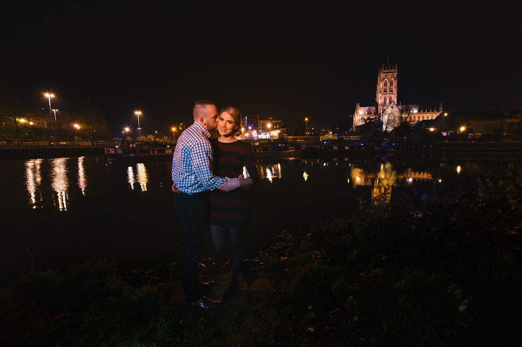 nighttime-engagement-photography-doncaster-minster-river-don