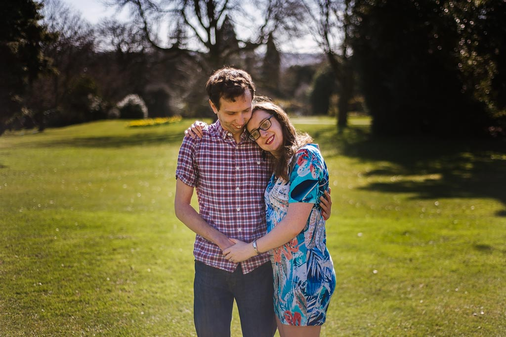 Engagement photographyCouple in love at Sheffield Botanical Gardens