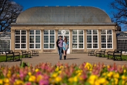 Engagement photography at Sheffield Botanical Gardens