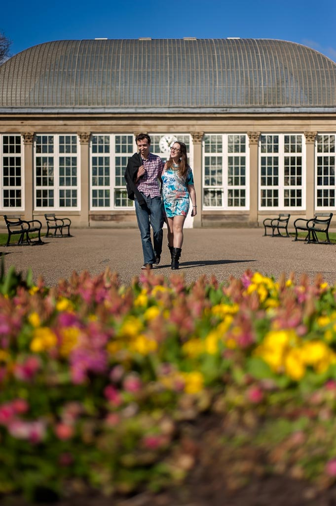 Engagement photography Sheffield Botanical Gardens