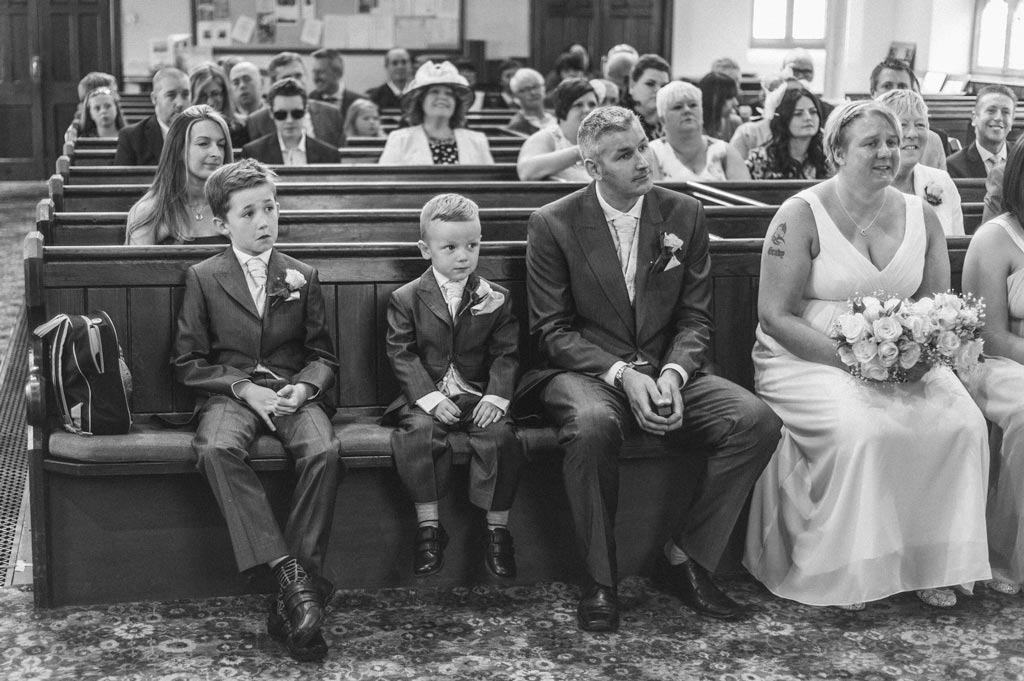 Pageboys during a wedding ceremony in Epworth