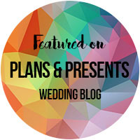 Photographer featured on Plans and Presents wedding blog