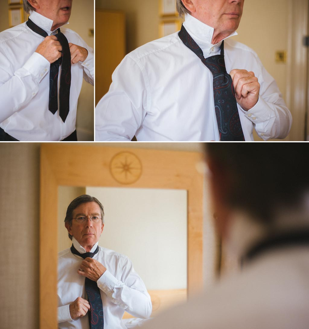 Groom getting ready at The Parsonage Hotel York