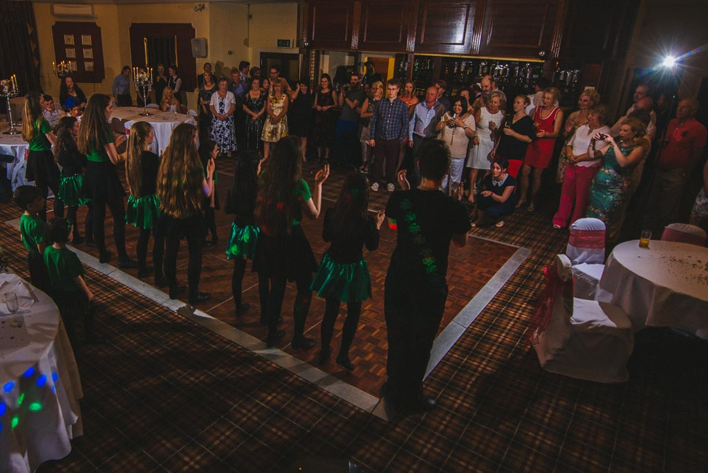 Irish dance at a wedding at The Parsonage Hotel in York