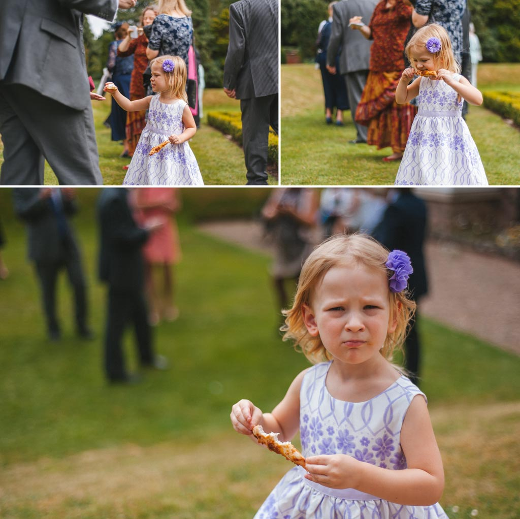 Little girl during wedding at The Parsonage Hotel York