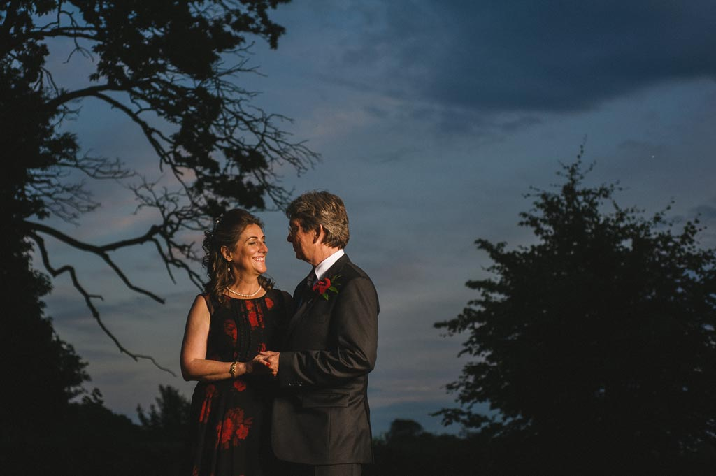 Wedding photography dramatic sunset in York