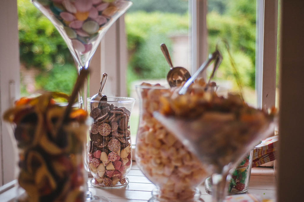 Wedding sweet cart at Mount Pleasant Hotel Doncaster