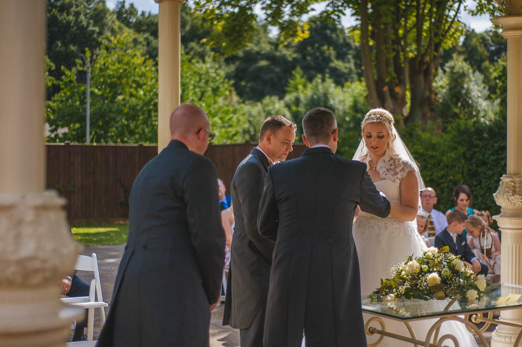Wedding ceremony at Mount Pleasant Hotel Doncaster South Yorkshire