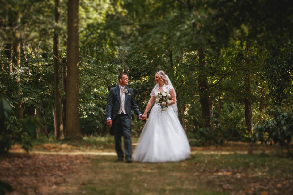 Bride and groom at Mount Pleasant Hotel Doncaster