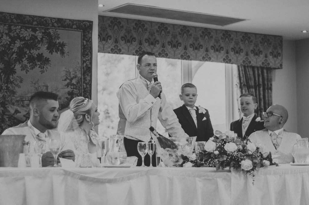 Wedding speeches at Mount Pleasant Hotel Doncaster