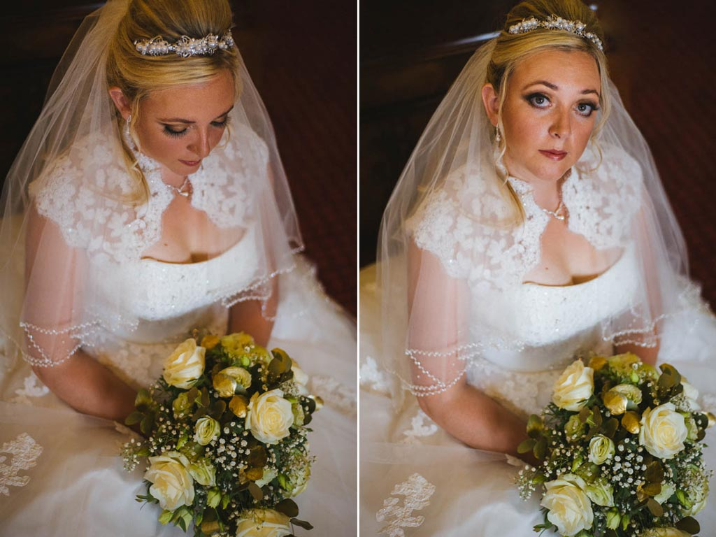 Brides portrait at Mount Pleasant Hotel Doncaster