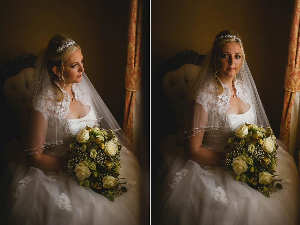 Portrait of a bride at Mount Pleasant Hotel Doncaster
