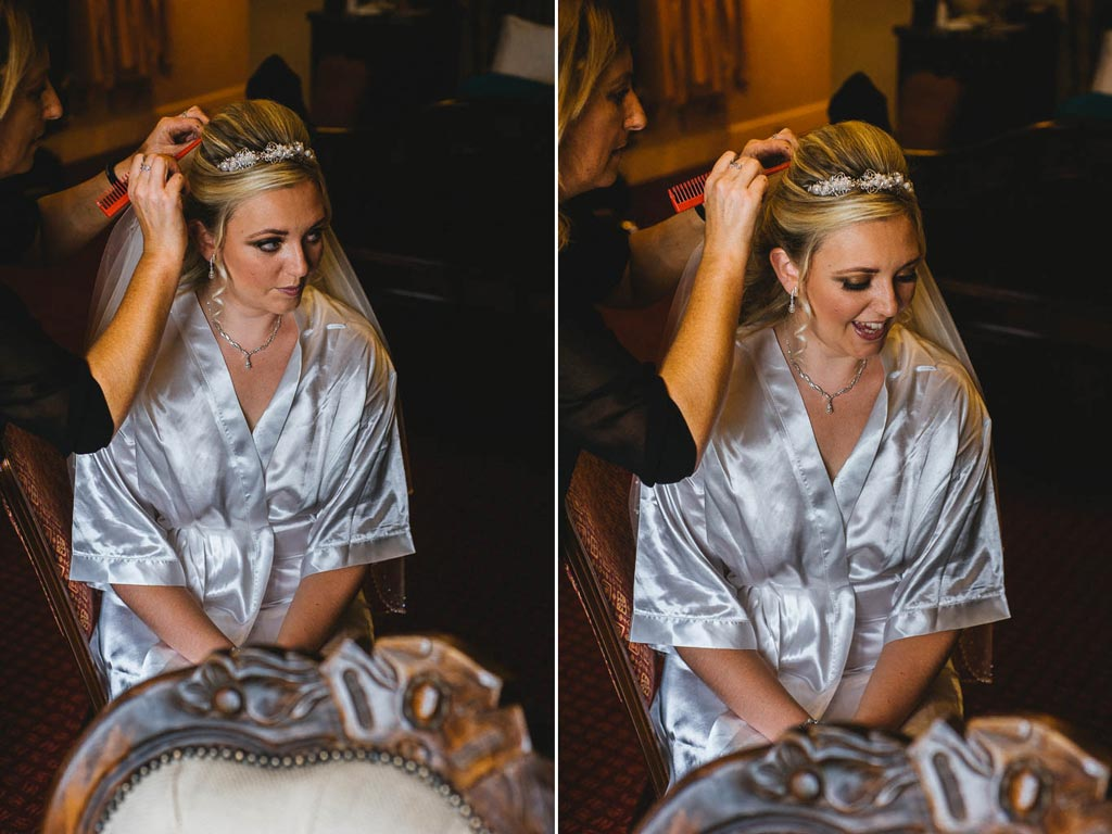 Bride getting ready at Wedding at Mount Pleasant Hotel Doncaster