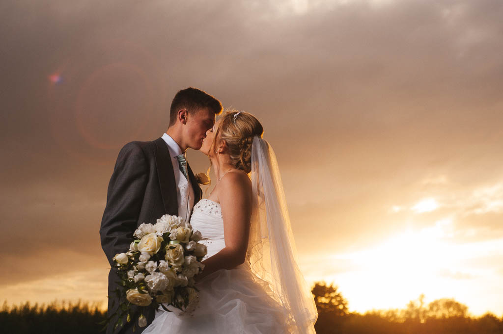 Sunset wedding photos at Norton Common Farm in Doncaster