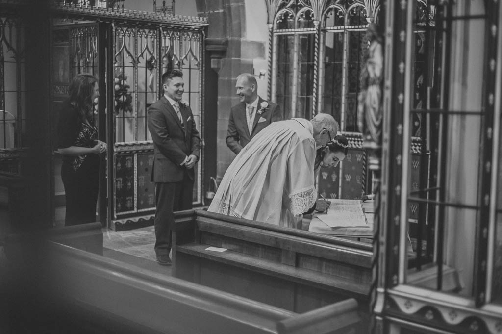 Wedding photography at St WIlfred Church in Cantley, South Yorkshire