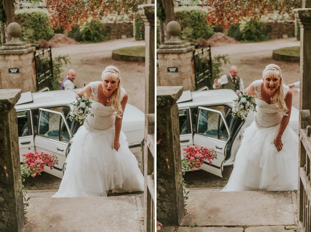 hunting-themed-wedding-photography-derbyshire-bride-arriving