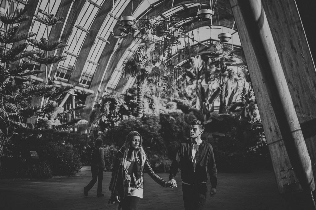 Engagement photography Sheffield Winter Gardens