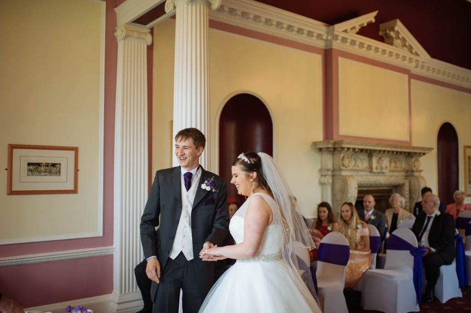 Wedding ceremony at the stables in south yorkshire