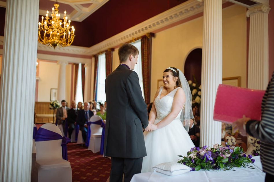 Wedding ceremony at the stables in Doncaster