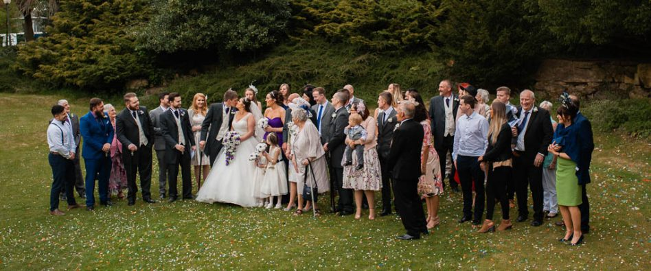 Wedding group photography at The Stables in High Melton