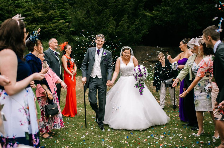 Wedding confetti at The Stables
