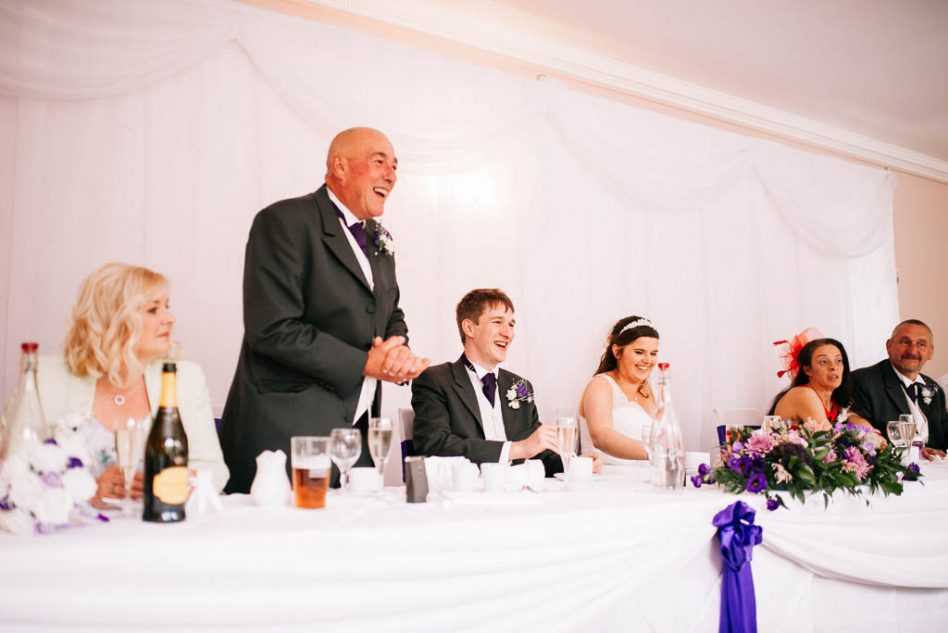 wedding speeches at The Stables in South Yorkshire