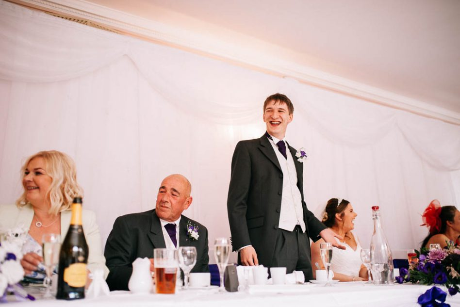 wedding speeches at The Stables in