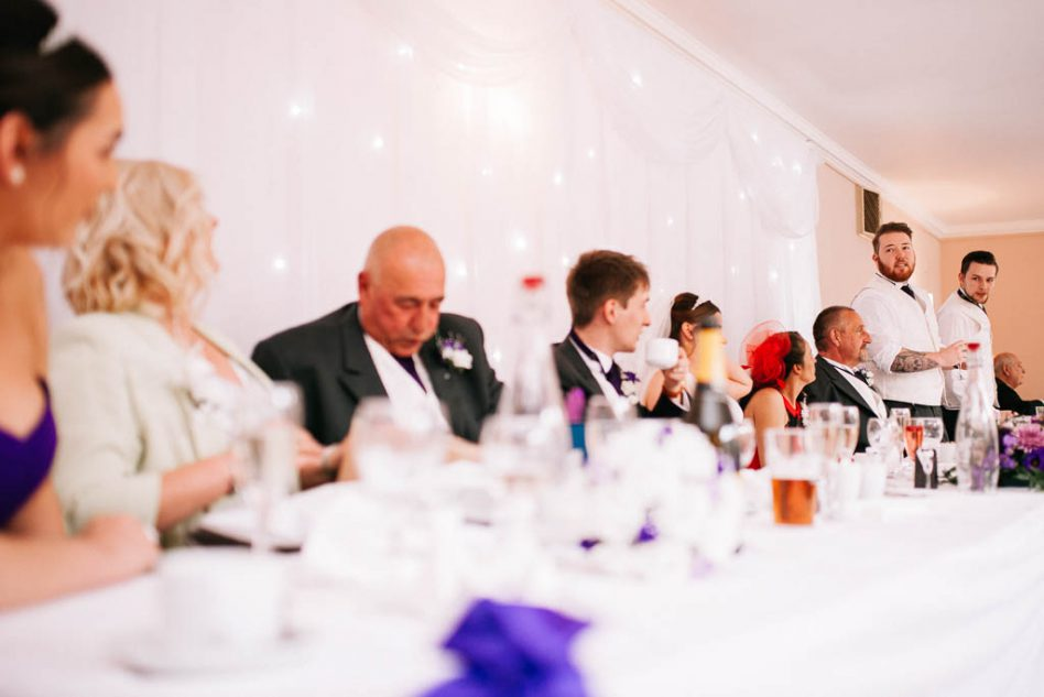 wedding speeches at The Stables