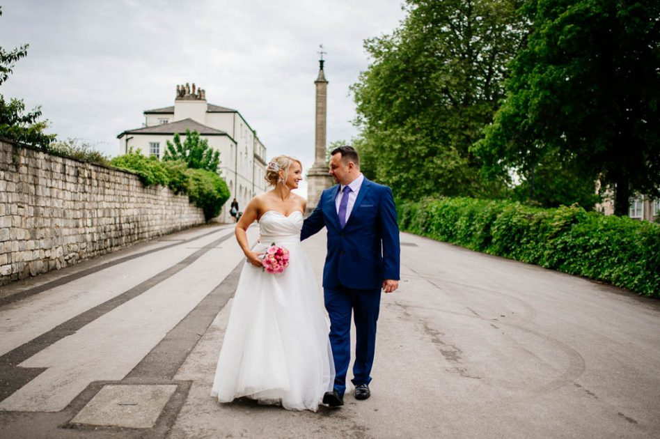 Newlywed couple at Doncaster Register Office