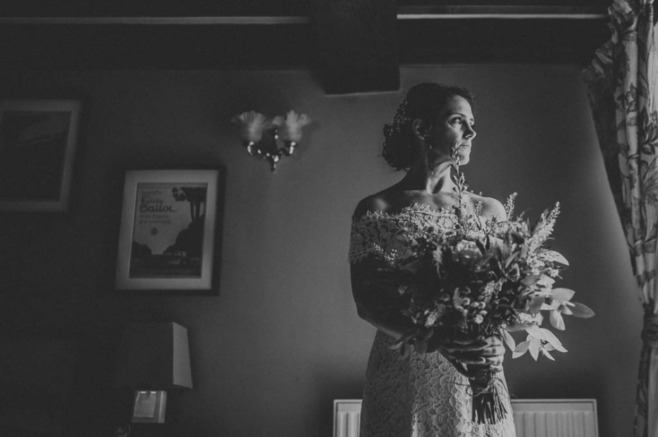 Portrait of a bride on a wedding day