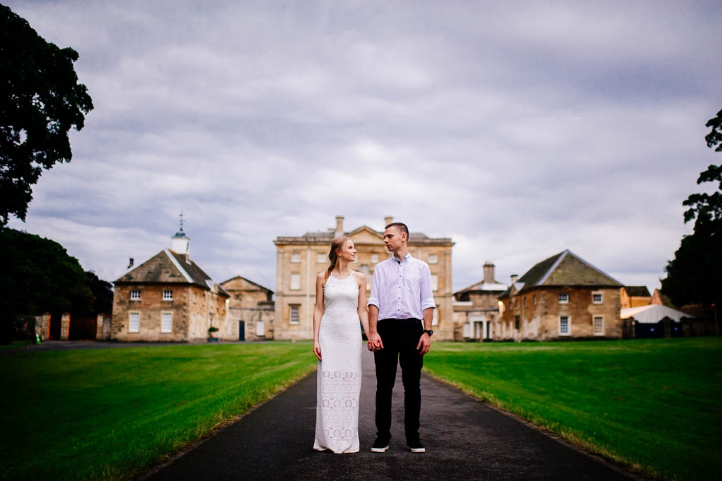 Engagement shoot at Cusworth Hall in Doncaster