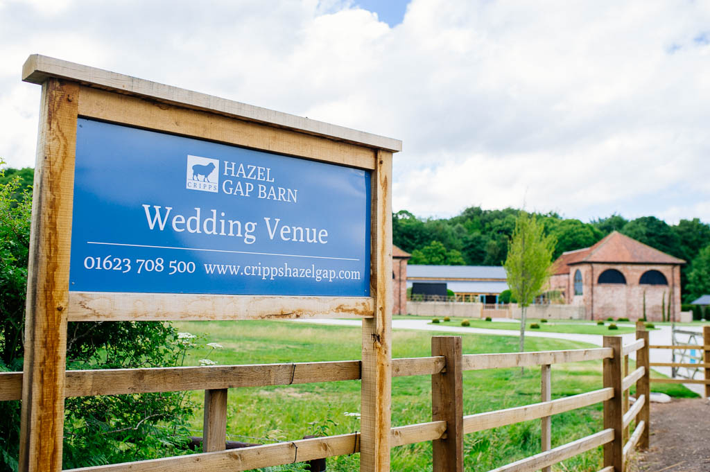 Hazel Gap Wedding Barn near Worksop in Nottinghamshire