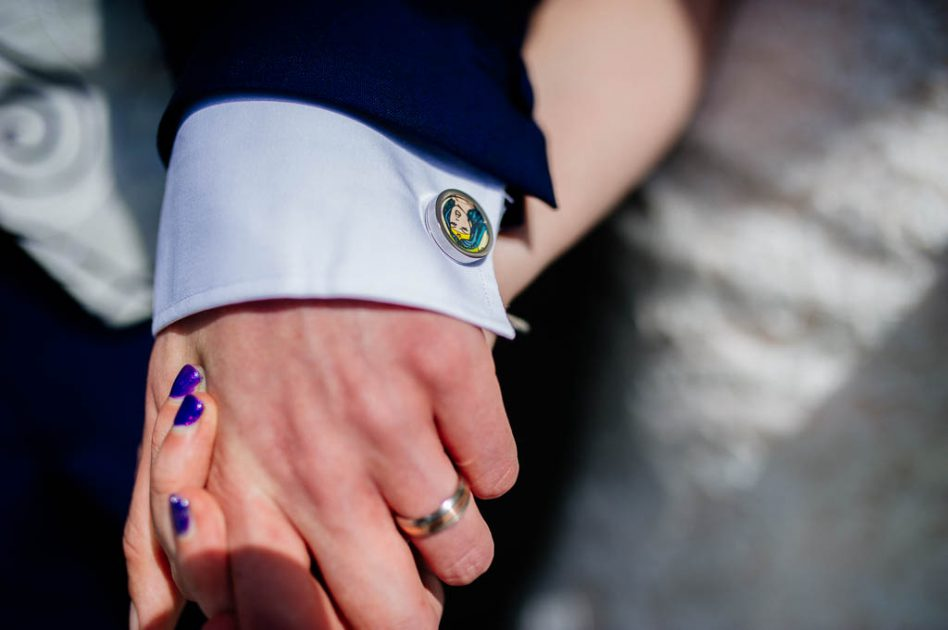 Wedding superhero cufflinks