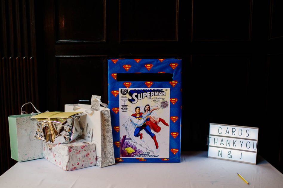 Superhero themed wedding at Wortley Hall