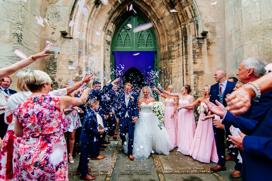 Wedding photography at at Christ Church in Doncaster