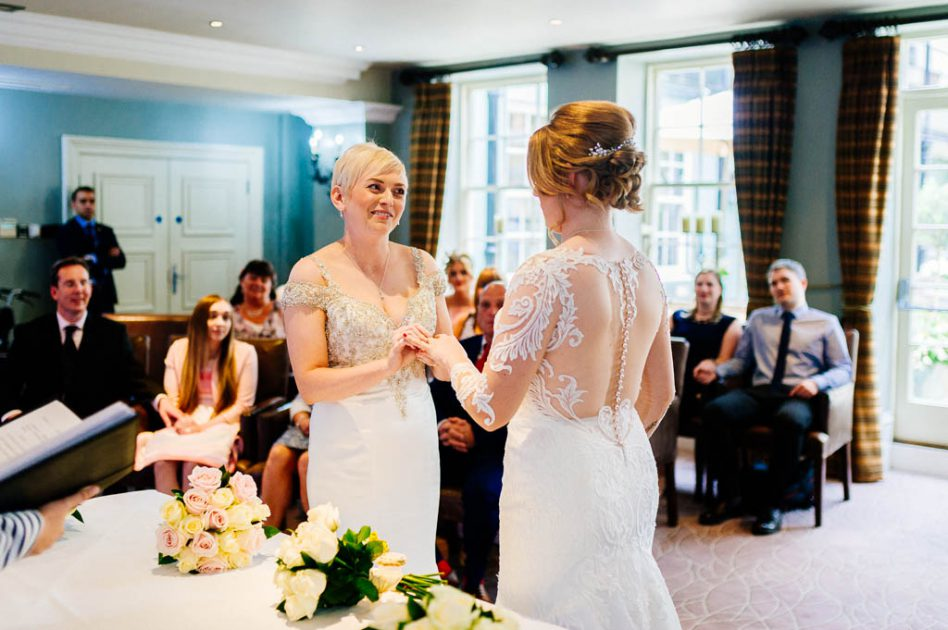 Wedding ceremony at Hotel du Vin in Harrogate