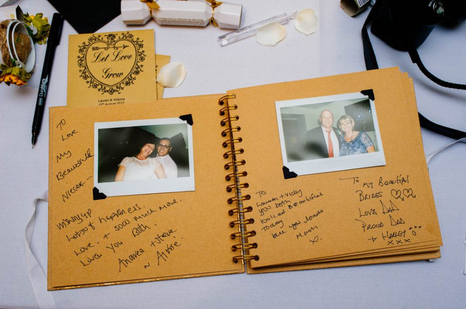 Wedding polaroid guestbook