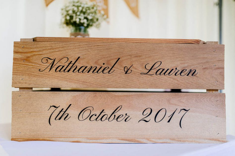 Wedding wooden post box
