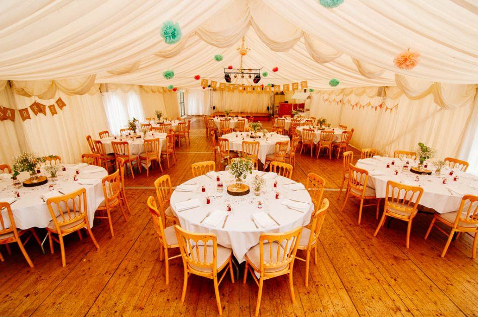 Fishlake Mill wedding marquee