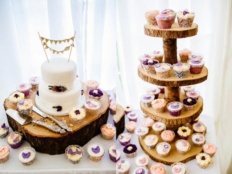 Wedding cake and cupcakes at Fishlake Mill