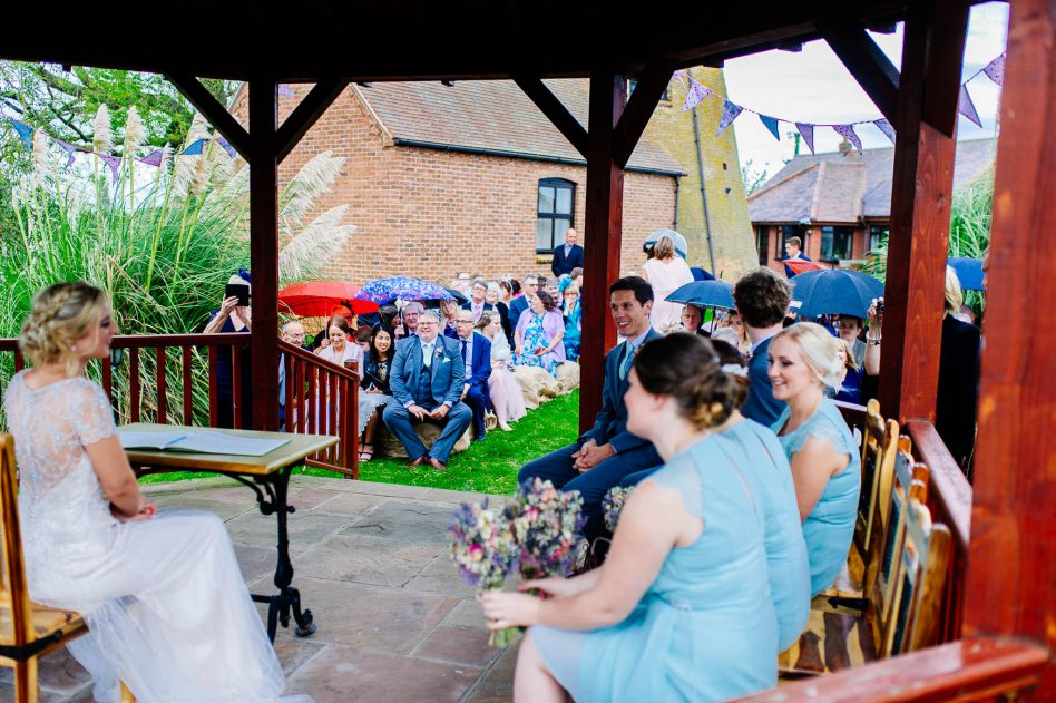 Outdoor wedding at Fishlake Mill