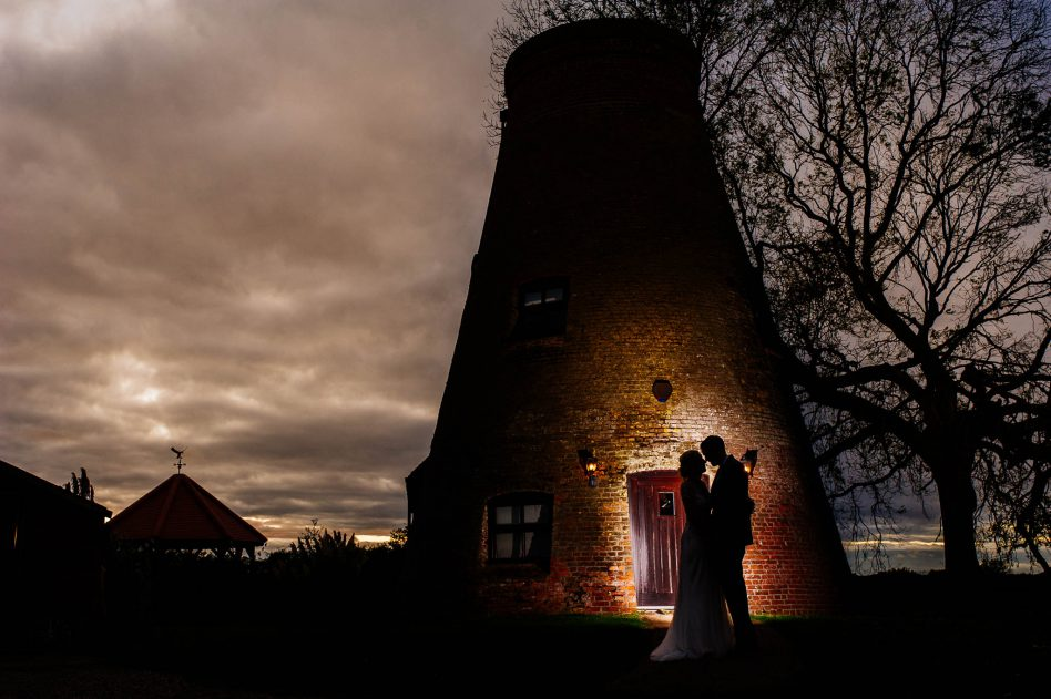 Sunset at Fishlake Mill wedding venue