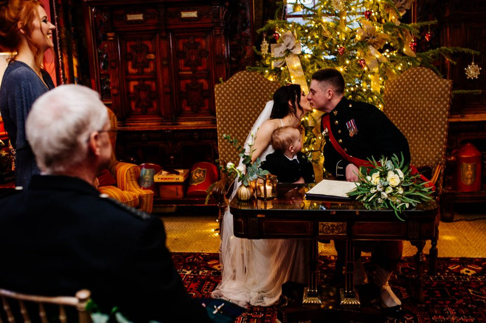 Christmas wedding at Prestonfield House