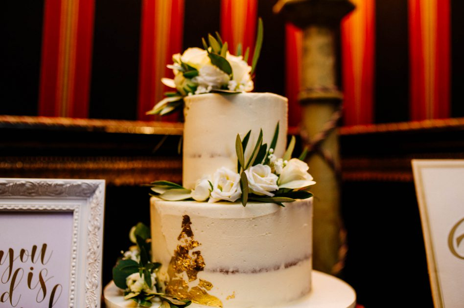 Wedding cake at Alnwick Garden wedding venue